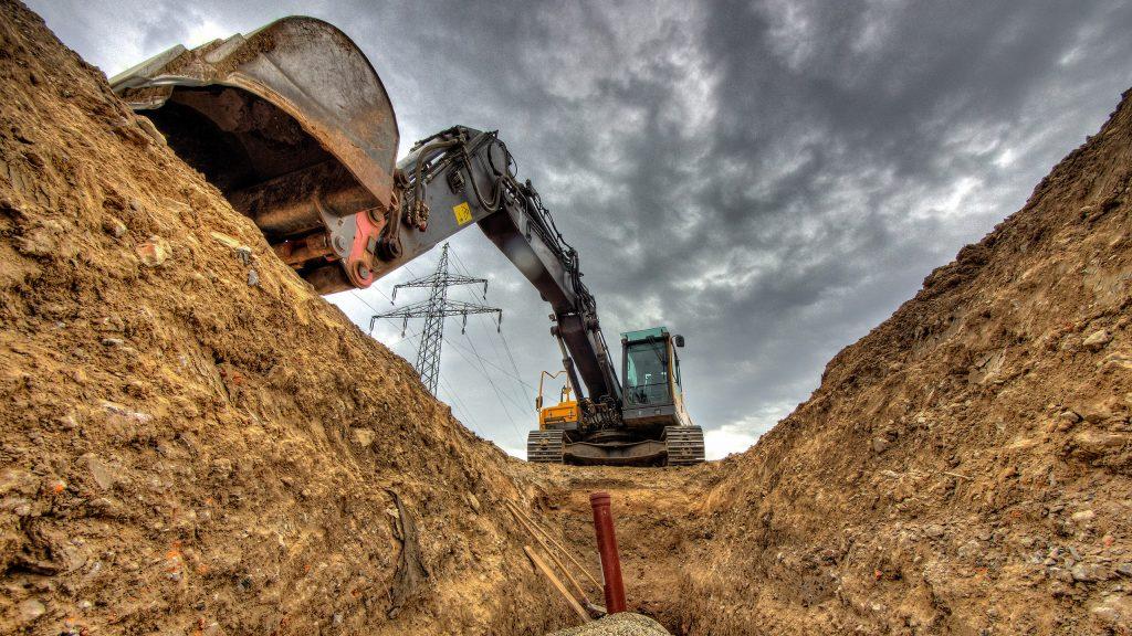 trp bagger zum tiefbau - für den tiefbaufacharbeiter
